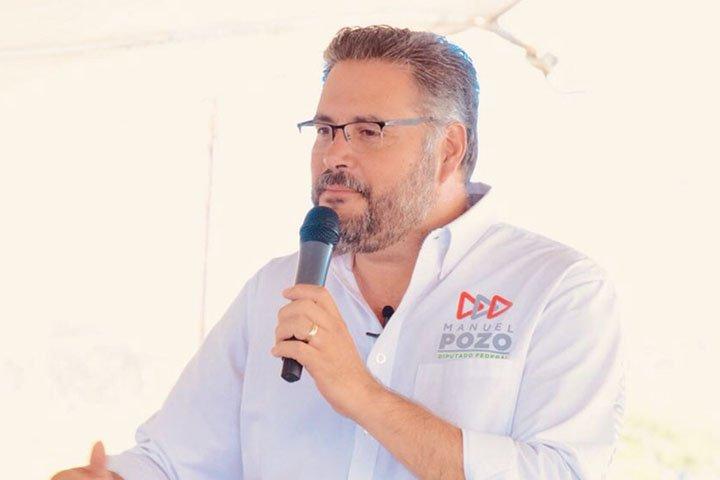 Recorre Manuel Pozo, zonas inundadas en Santa María Magdalena